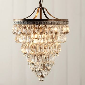 Clarissa Glass Drop Medium Round Chandelier