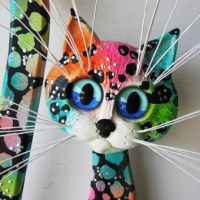 Cat art wall decor sculpture with from artistJP on Etsy | My