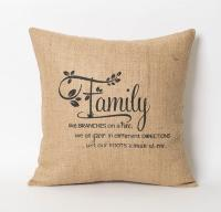 Family Pillow - Family Like Branches On A from natuurdesign on
