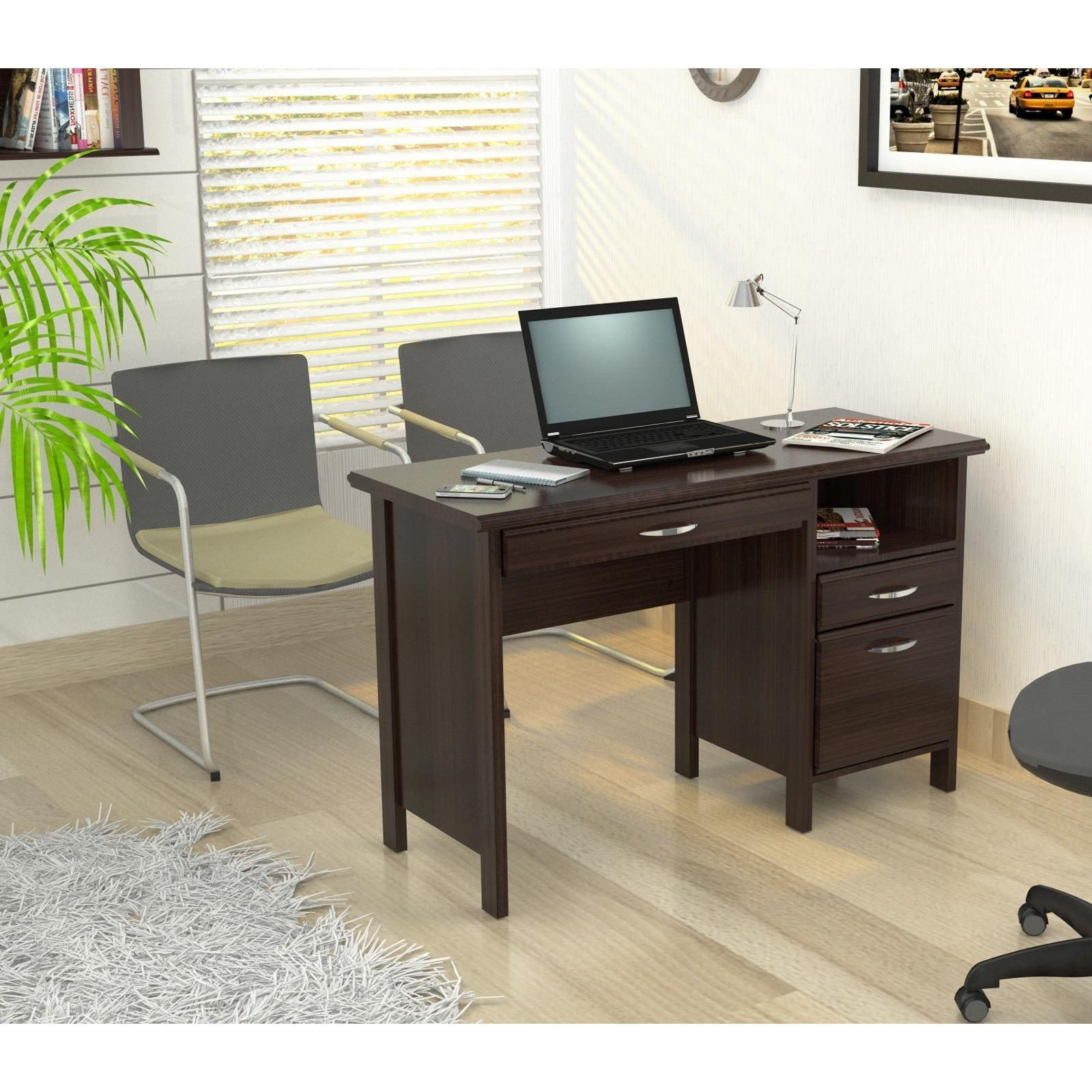 Inval Softform Espresso Computer Desk  from Overstock