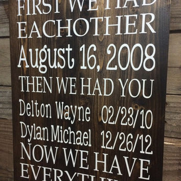 Best Home Decor Wooden Family Sign Products On Wanelo