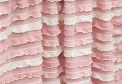 Shop Pink Ruffle Curtains On Wanelo