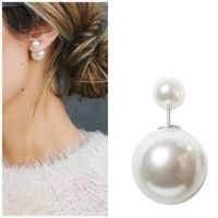 Shop Pearl Earrings Dior on Wanelo