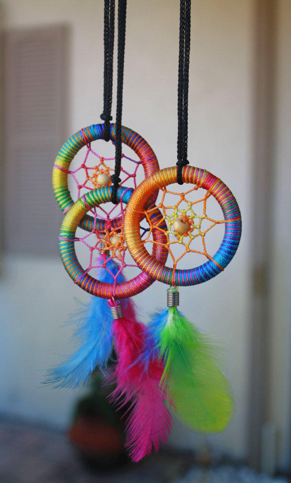 Rainbow Pastel Dream catcher SALE from LiberumSilvestre on Etsy