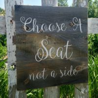 Rustic Barn Wood Sign Wedding Decor from The Rustic Palette