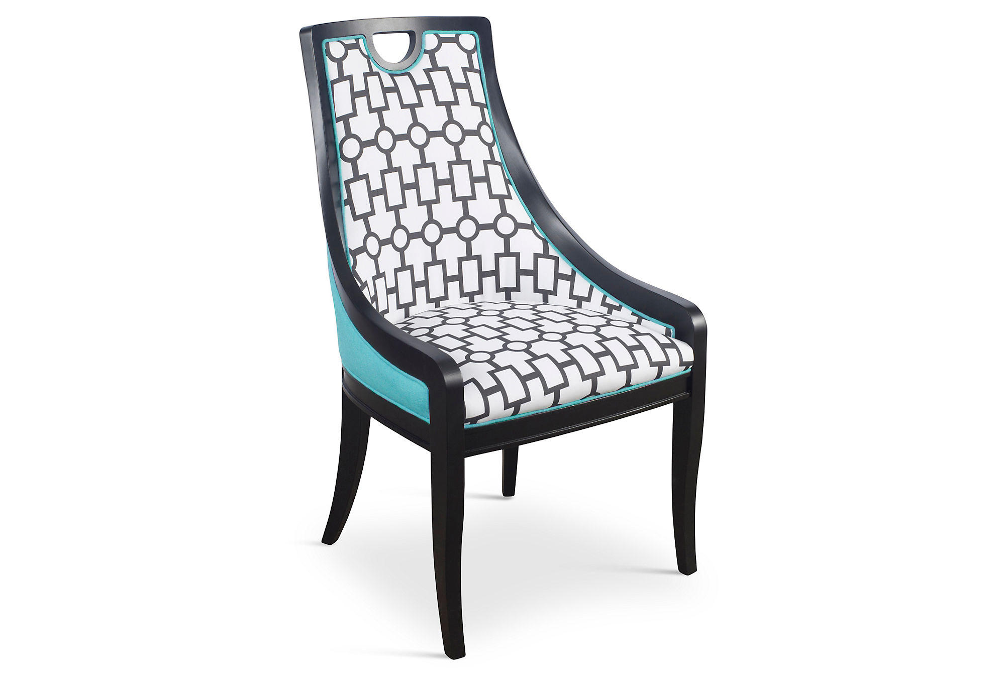 Turquoise Side Chair Turquoise Deco Side Chairs Pair Dining From One Kings Lane