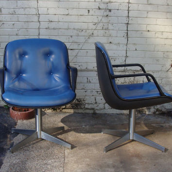 steelcase vintage chair rocking realty shop on wanelo mid century modern blue charles pollock style furniture