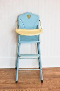 Doll High Chair, Vintage metal high from MollyFinds on Etsy