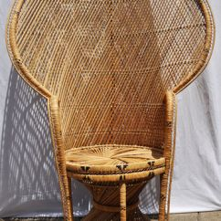 Fan Back Wicker Chair Covers Used Vintage Peacock From Aligras A L Hollywood Regency Palm Beach Retro Bohemian Hippie
