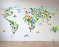 Map Wall Decal Vinyl - wall decals ideas: top map wall ...