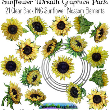 sunflower wreath products