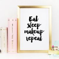 """Printable Watercolor Quote """"Positive from TypoArtHouse"""