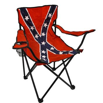 folding chair nylon high for baby girl confederate flag camp from amazon rebel