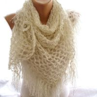 Shop Crochet Bridal White Shawls on Wanelo