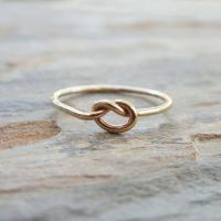 Solid 14k Gold Love Knot Promise Ring from ...