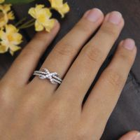 Infinity Engagement Ring-Small Round Pave from Besbelle on ...