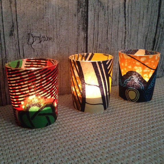 leopard decor for living room sears couches wedding décor, votive candle, party, from chillipeppa on etsy