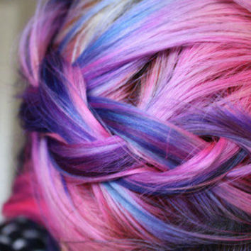 temporary colored hair chalk dip dye from shareeboutique on