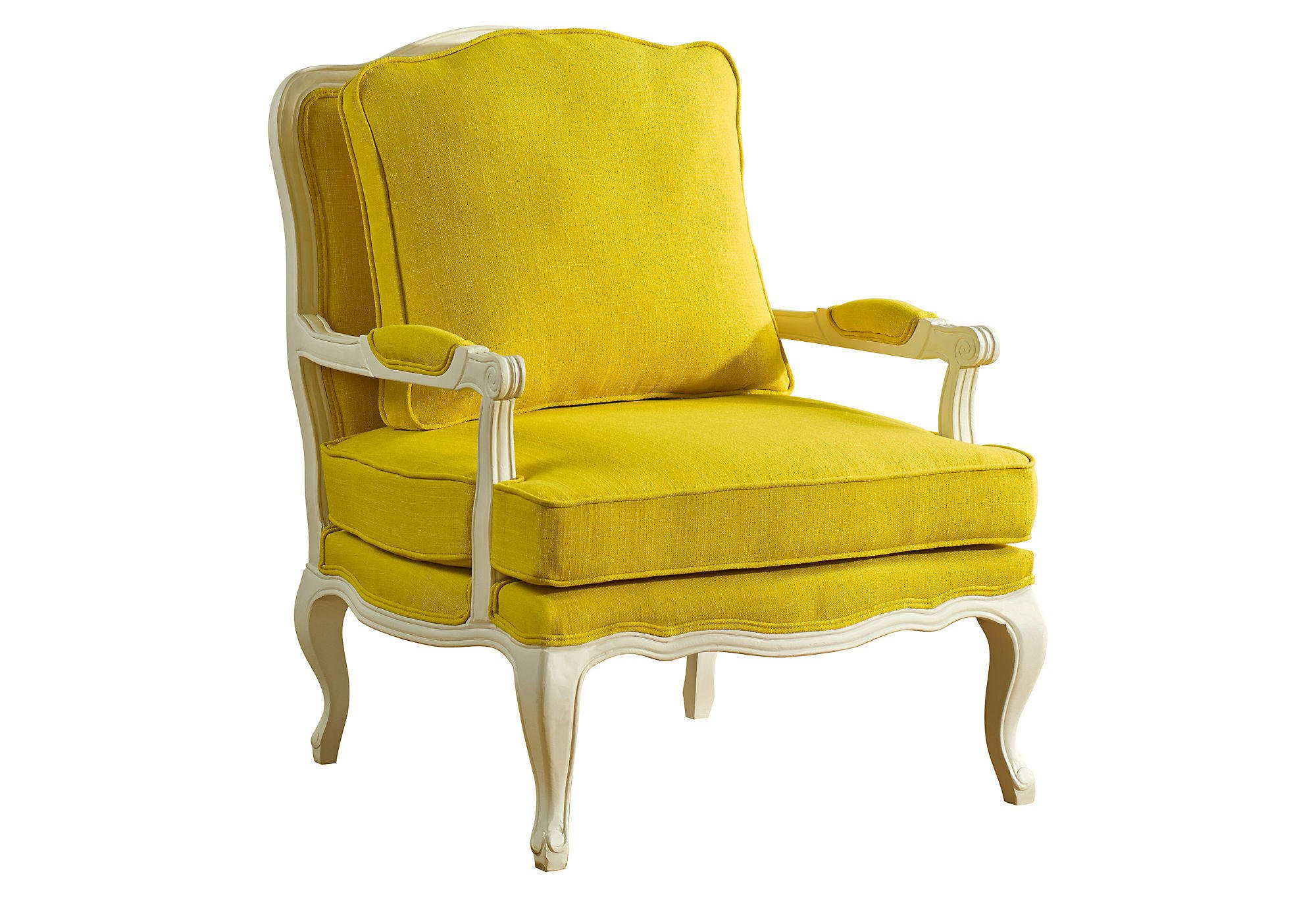 Yellow Side Chair Agatha Accent Chair Yellow Accent And From One Kings Lane