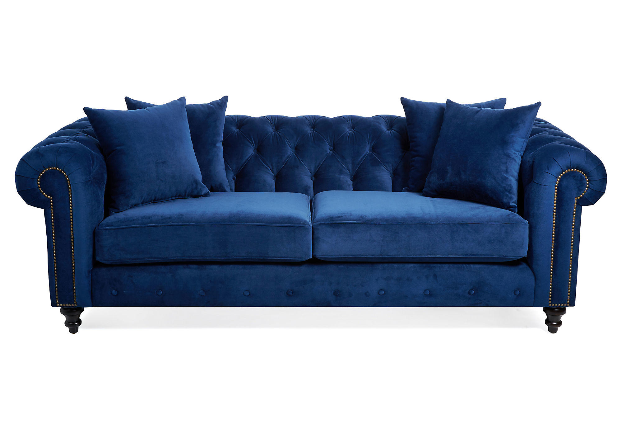 royal blue velvet sofa fabric chesterfield bed uk maria tufted sofas and from one kings