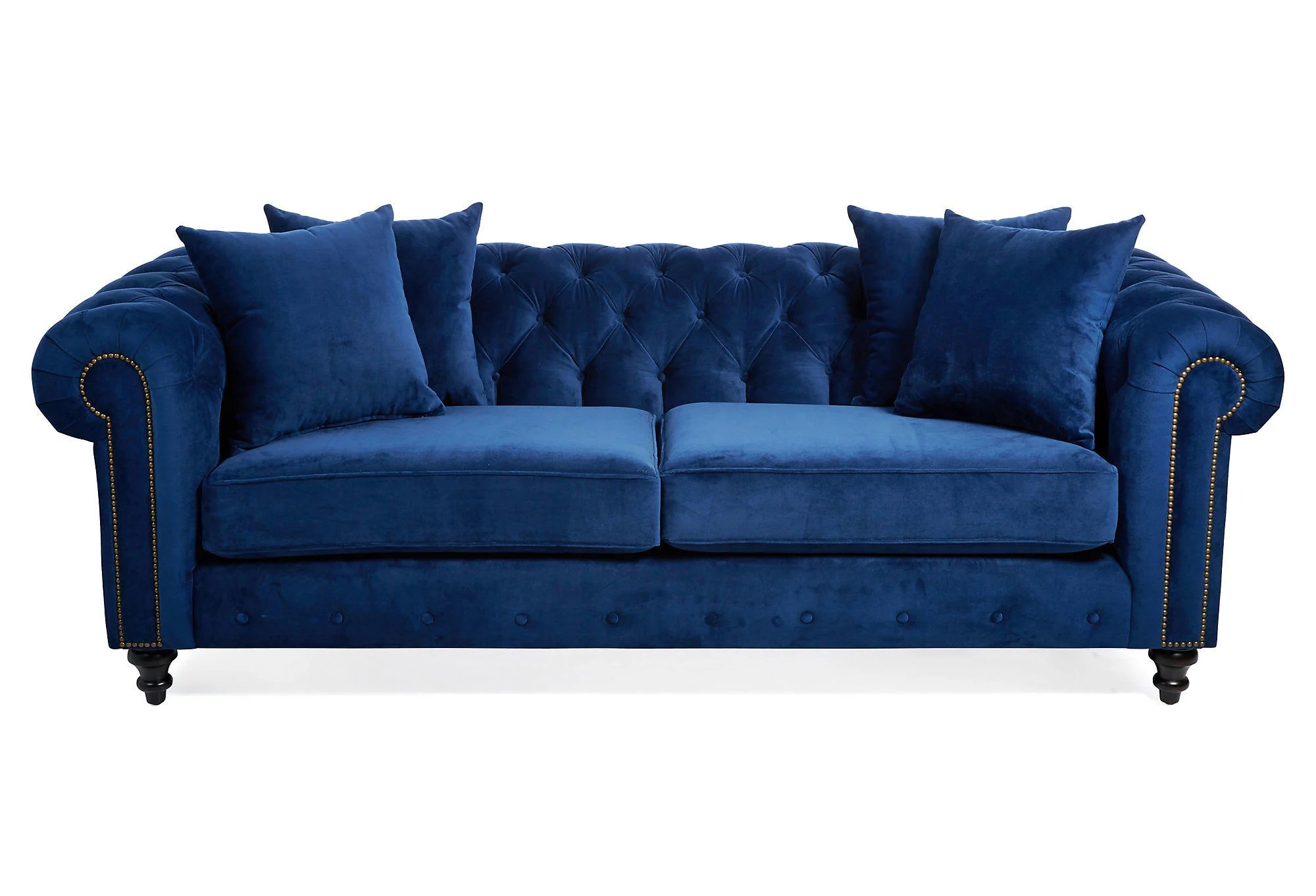tufted sofa velvet corner leather bed maria blue sofas and from one kings