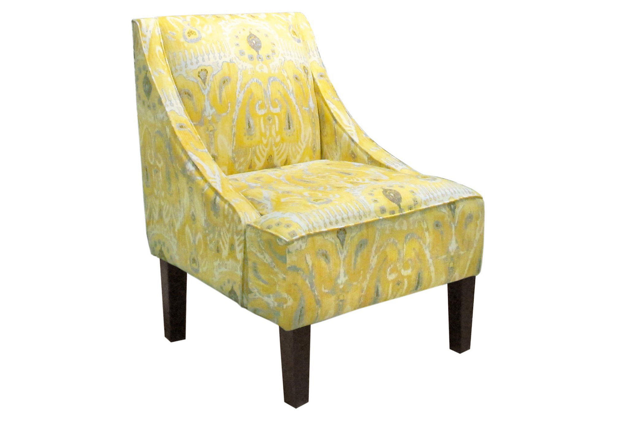 accent chair yellow shipping a cross country fletcher swoop arm ikat from one kings lane