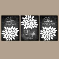 Live Laugh Love Wall Art Quote Chalkboard from TRM Design ...