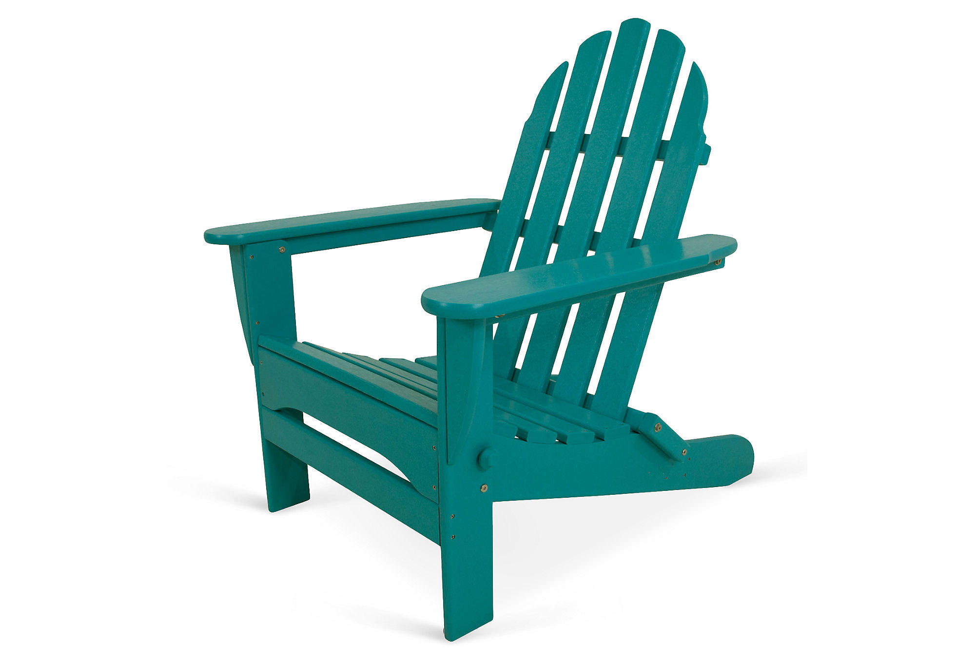 Teal Adirondack Chairs Classic Folding Adirondack Teal Outdoor From One Kings Lane