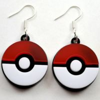 Shop Pokeball Earrings on Wanelo