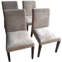 Z Gallerie Chairs Blue And White Chair Shop On Wanelo Pre Owned Microfiber Set Of 4