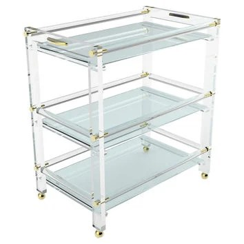 Shop Lucite Bar Cart on Wanelo