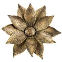 Gold & Black Metal Flower Wall Decor | from Hobby Lobby