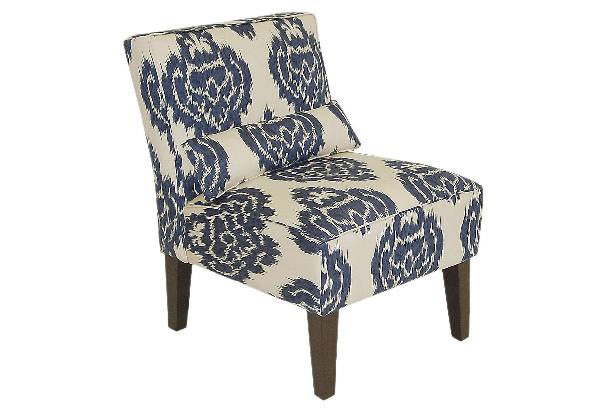 target armless accent chair wedding covers to buy uk bergman navy off white from one kings lane