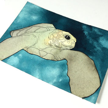 Sea Turtle Art Decor Wall Painting