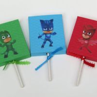 12 Lollipop PJ Mask Party Favor Cover - from ...