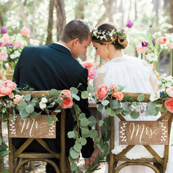 mr and mrs chair signs cloth office best wood wedding products on wanelo wooden