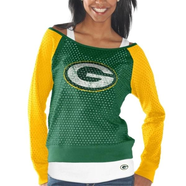 Womens Green Bay Packers Gold Holey Official