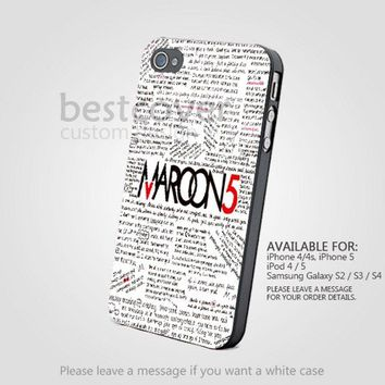 Maroon 5 Quote for iPhone 4/4S/5 iPod 4/5 from fancy.com