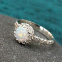 Opal ring - sterling silver - vintage from SilverStamped ...