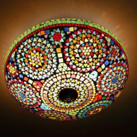 pendant light glass mosaic -  25 cm / from Interliving on ...
