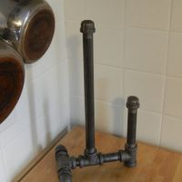 Industrial Pipe Paper Towel Holder from LocustAndPlum on Etsy