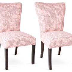 One Kings Lane Chairs Red Upholstered Chair Pink Chloe Pair Dining From