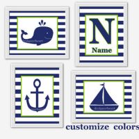 NAUTICAL Baby Boy Nursery Wall Art Navy from