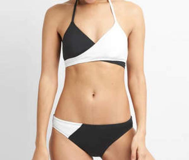 Small Boobs May Swimsuit Gap Black White