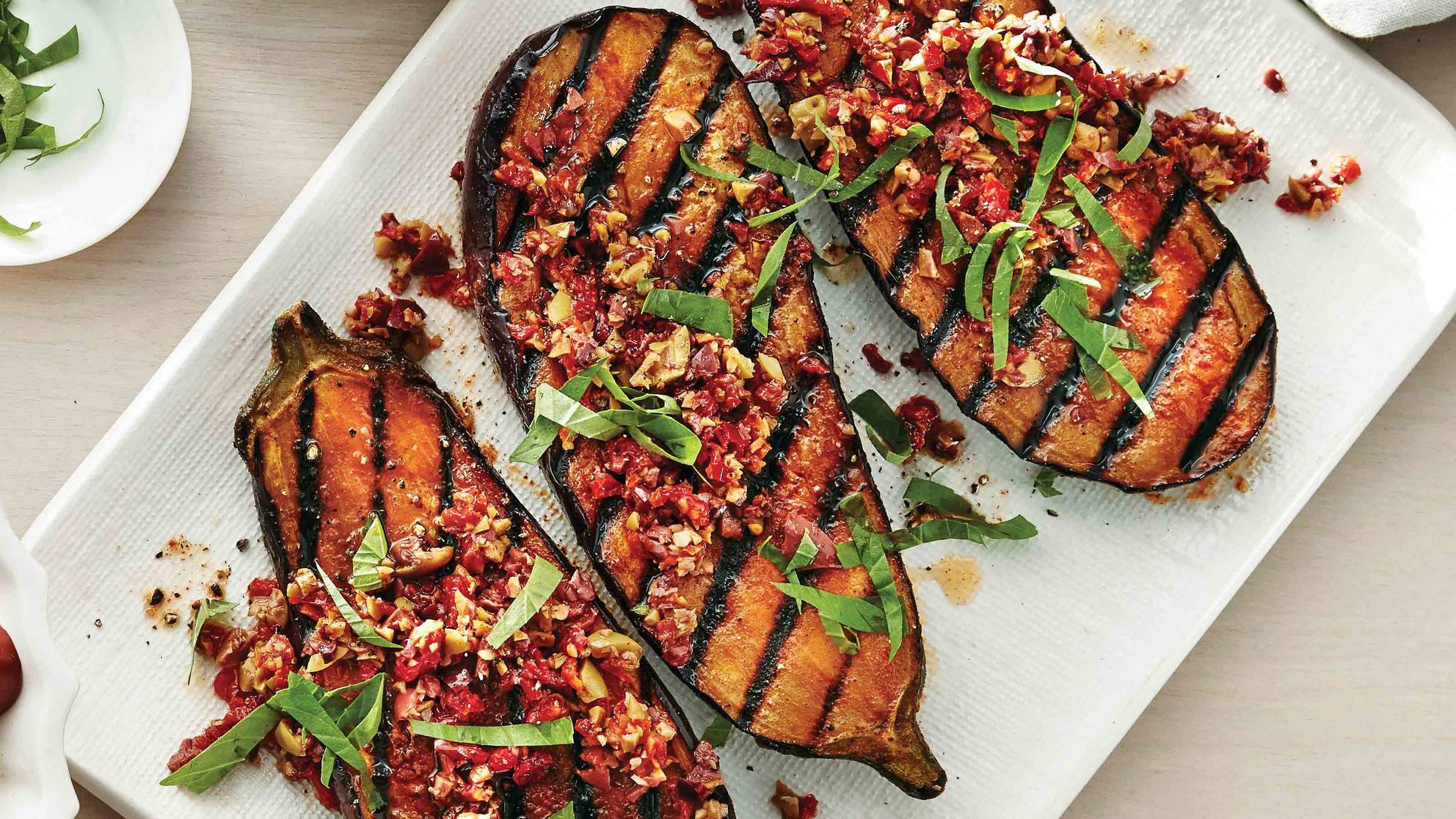 Eggplant Steaks With Tapenade Recipe Health