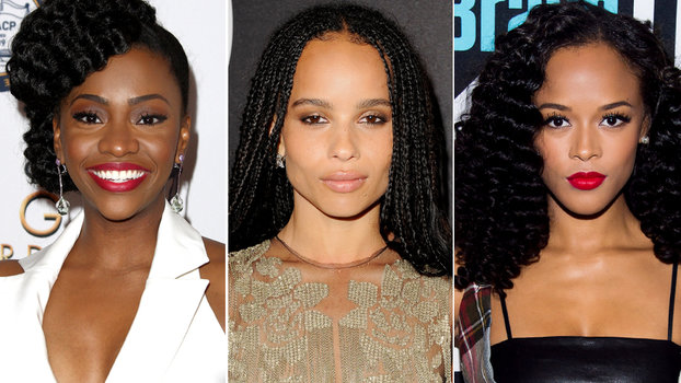 natural celebrity hairstyles
