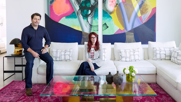 Inside Nick Offerman and Megan Mullallys Hollywood Home  InStylecom