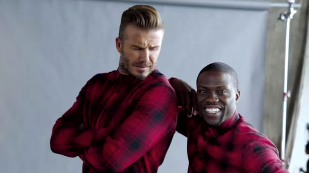 Watch Kevin Hart Try To Be David Beckham In Their New HampM