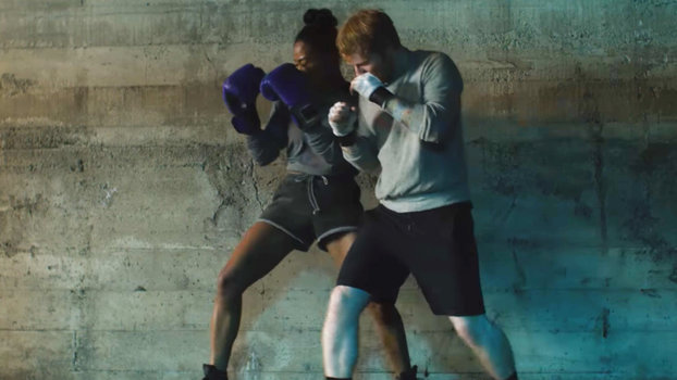 Ed Sheeran Gets Shredded While Boxing in Shape of You Music Video  InStylecom