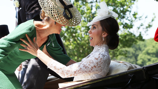 Kate Middleton Catches Countess of Wessex at Royal Ascot